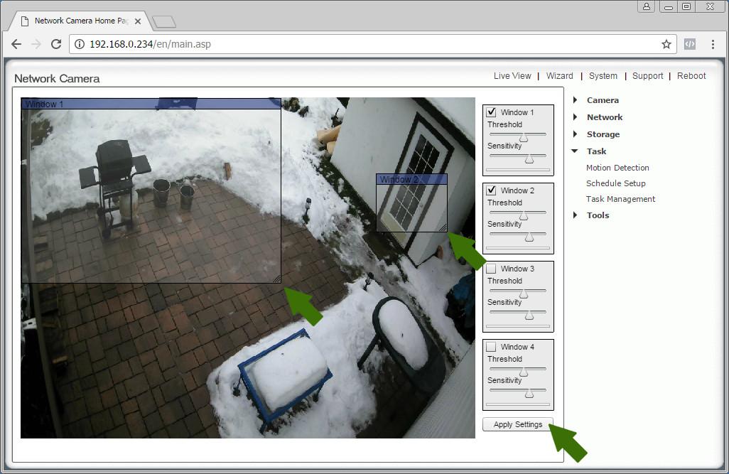 NetCamPro Motion Detection On Desktop 3