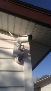 Side mounted outdoor POE camera with external IR